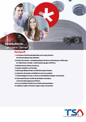 TSA Folder Lehrberufsbeschreibung Einkäufer*in Coverbild