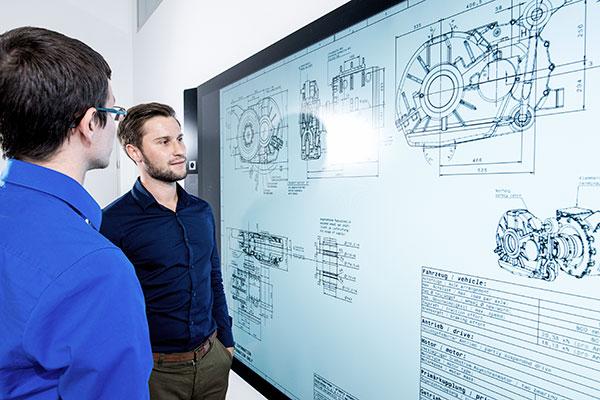 TSA employees go through electric motor calculation process