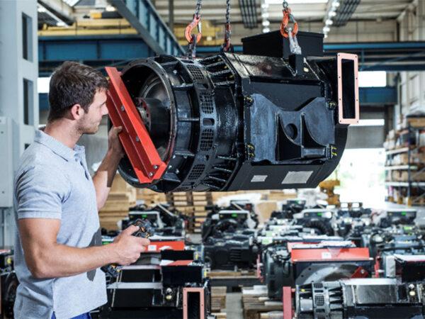 TSA employee at final assembly electric motor