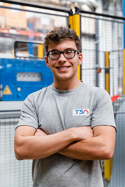 TSA apprentice in production area