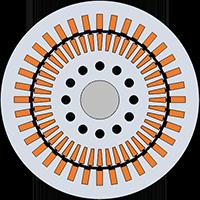 Principle design of an asynchronous machine