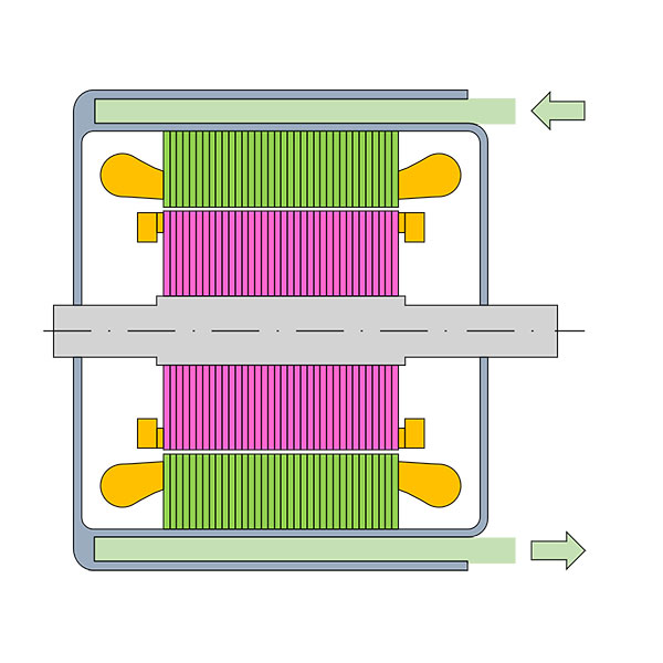 Graphical illustration of a liquid cooling system