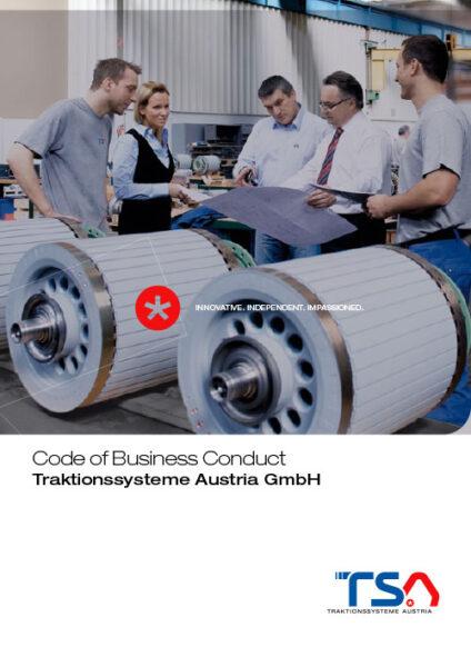 TSA Code of Conduct brochure cover